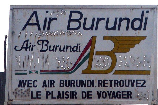 Linie lotnicze Burundi - reklama