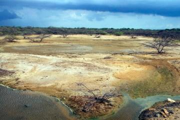 Burza na pustyni w Kolumbii - foto
