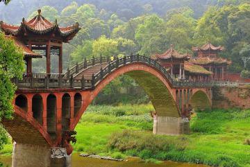 Zabytkowy chiński most