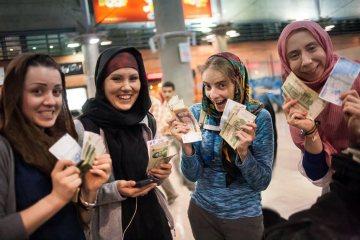 Kamila Kielar na lotnisku w Teheranie