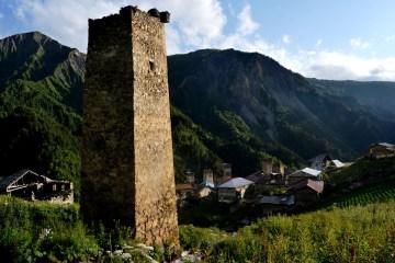 Wieś w Swanetii