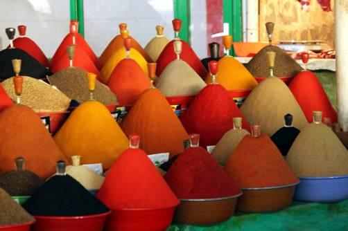 Bazar z przyprawami w Duszanbe