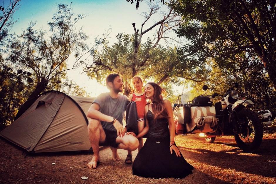 Podróż motocyklem dookoła Europy. camping w Grecji