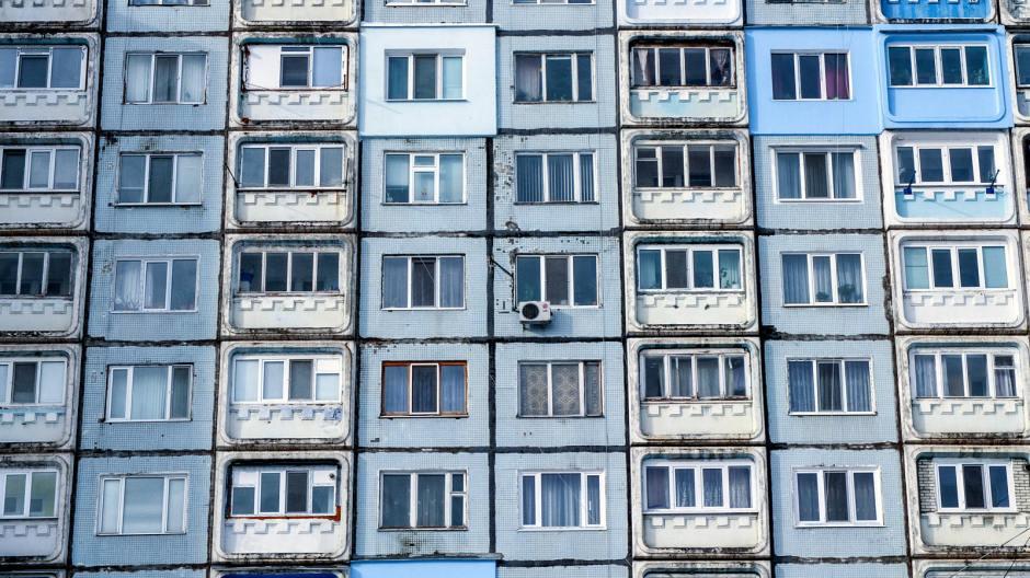 Blok mieszkalny w stolicy Naddniestrza