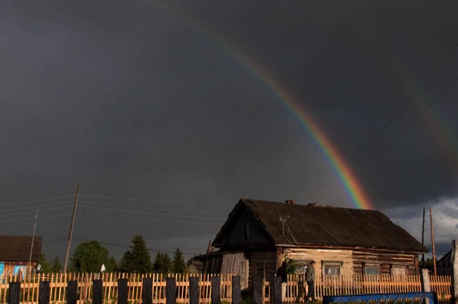 Wieś na Syberii, Rosja