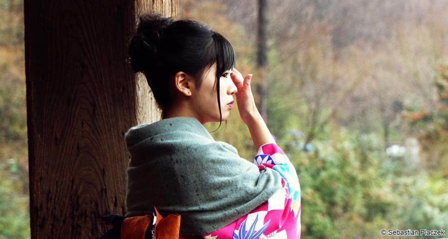 Japonka z Kioto - zdjęcia z podróży do Japonii