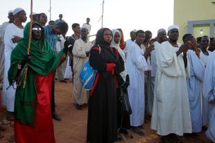 Zdjęcia z Sudanu, sufi w Omdurmanie