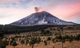Wulkan Popocatépetl - zdjęcia z podróży przez Meksyk