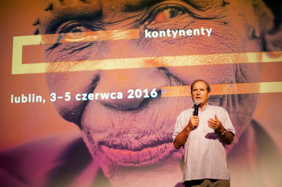 Paul Theroux był gościem festiwalu Kontynenty w Lublinie. (Fot. Patrycja Pająk)