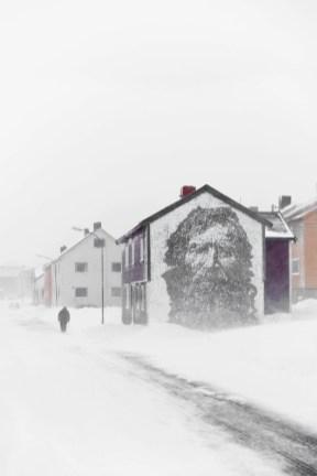 Vardo - street art w Norwegii