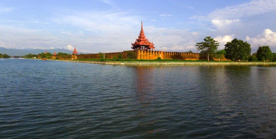 Panorama pałacu Mindona. Mandalaj, Birma