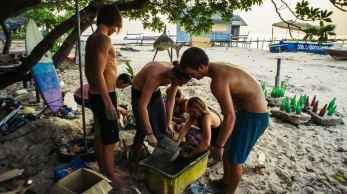Praca w organizacji TRACC na Borneo, odbudowa rafy koralowej