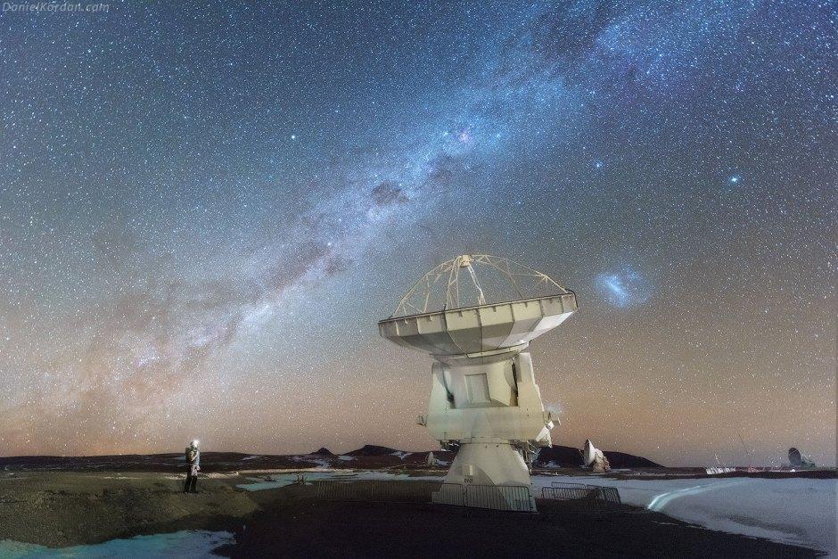 Salar de Uyuni, noc, gwiazdy, foto, radar