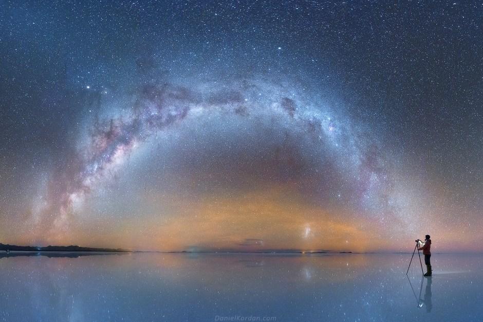 Gwiazdziste niebo nad Salar de Uyuni, zdjęcia, Boliwia