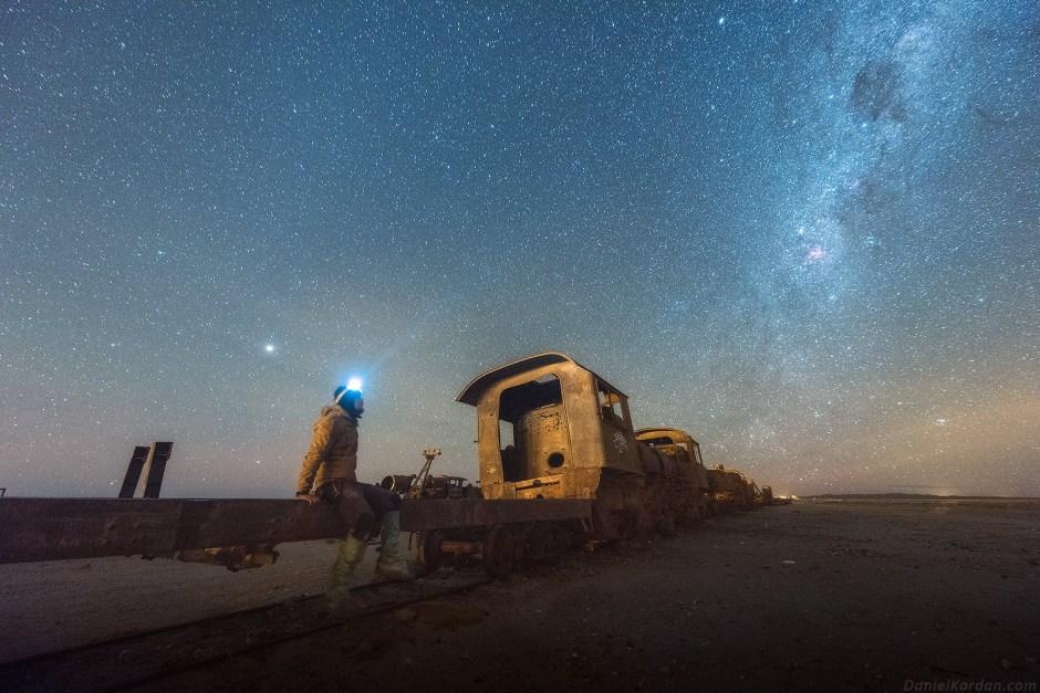 Boliwia, Salar de Uyuni, stare pociagi, kolej
