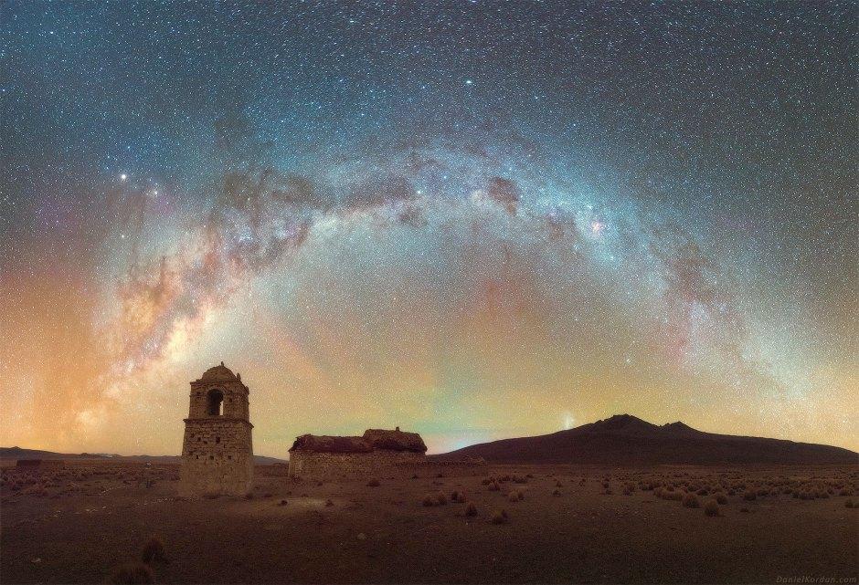 Salar de Uyuni, gwiazdy, astrofotografia, nocne niebo
