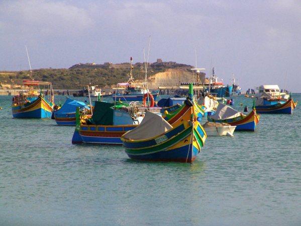 Łodzie rybackie na Malcie