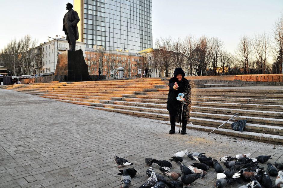 Donieck na Ukrainie, plac Lenina. Foto - Julia Wizowska
