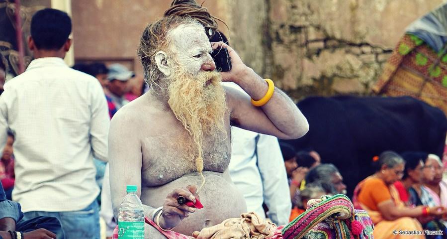 Zdjęcia z Indii, sadhu z Waranasi - foto Sebastian Placzek