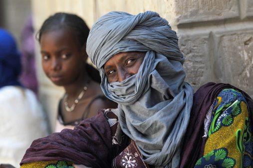 Mężczyzna z Timbuktu, Mali, Sahara, FOTO