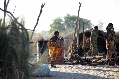 Mali, obóz nomadów w Timbuktu - foto