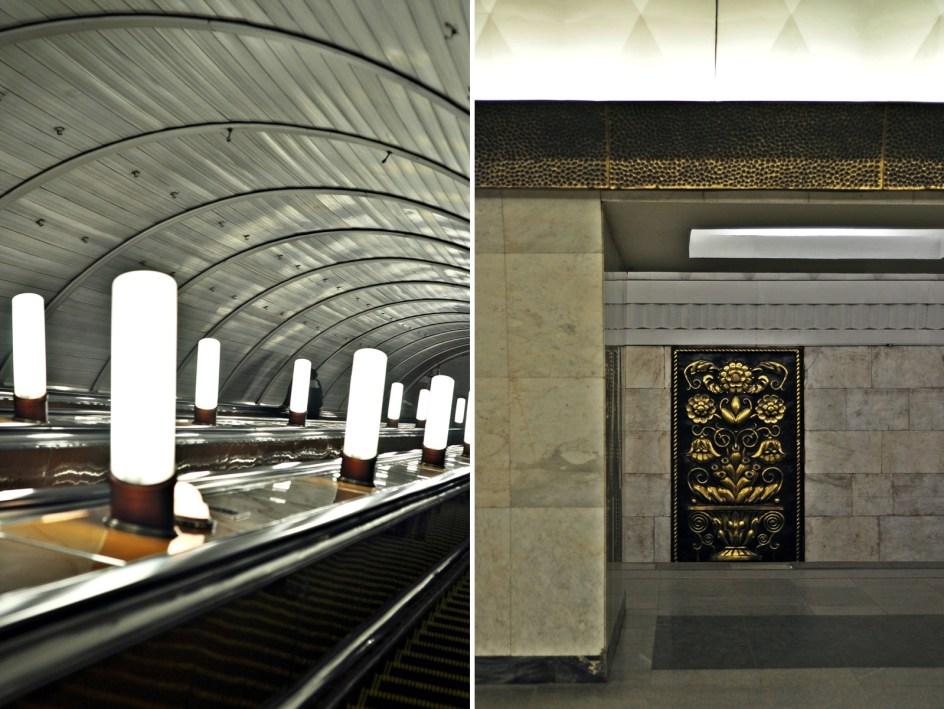 Moskwa, zdjęcia z metra