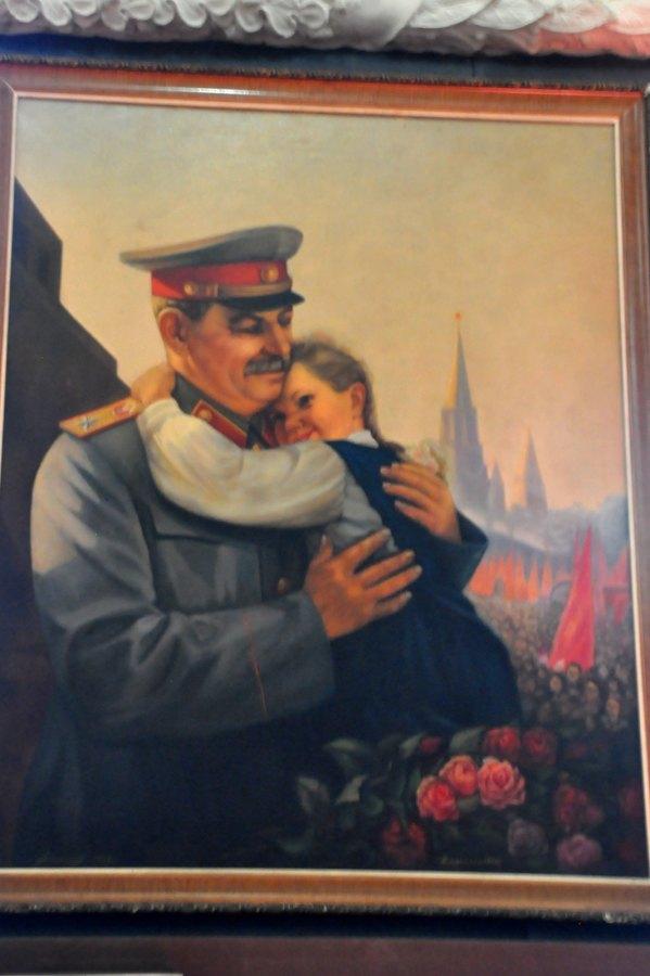 Józef Stalin - portret z dzieckiem