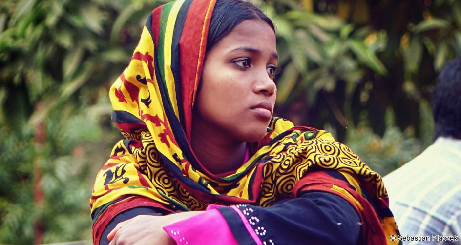 Bangladesz, piękna kobieta z Dhaki