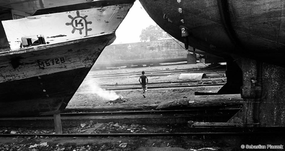 Stocznia w centrum Dhaki, zdjęcia z Bangladeszu