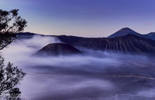 Indonezja, wulkan Bromo, wschód słońca