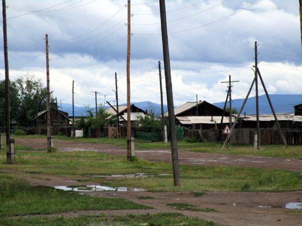 Tuwa, Rosja, wieś, drewniane domy