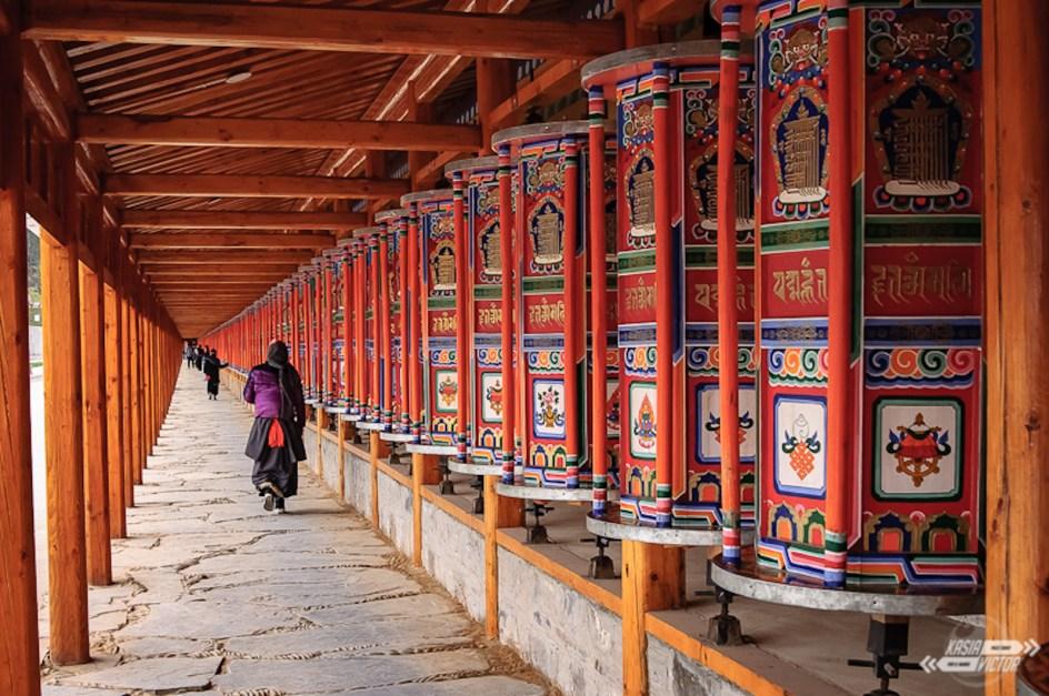 Chiny, Xiahe w Tybecie, klasztor Labrang