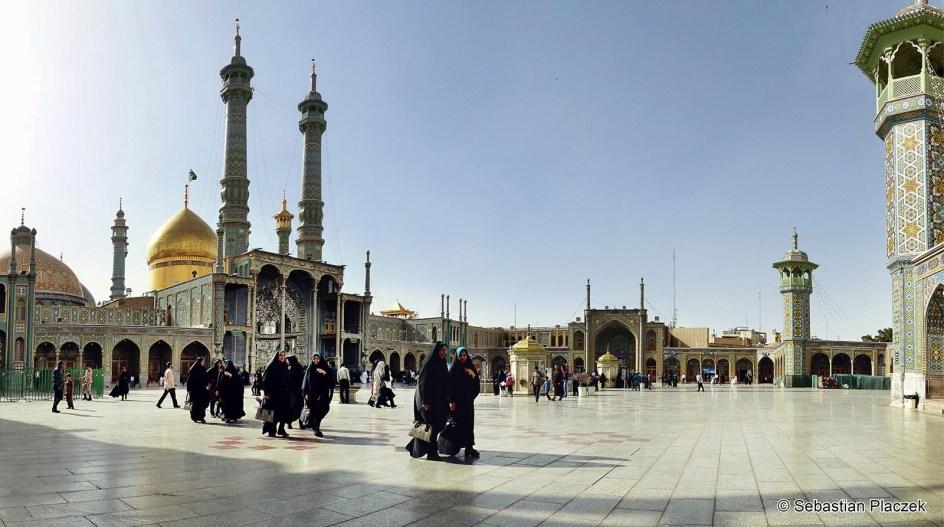 IRAN, Quom. Sanktuarium Fatima-al-Masuma - zdjęcia z podróży do Iranu