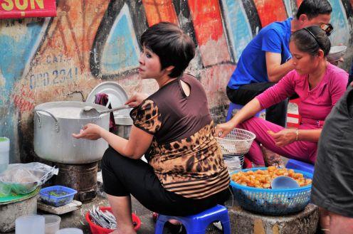 Wietnam, Hanoi, streetphoto, kuchnia uliczna