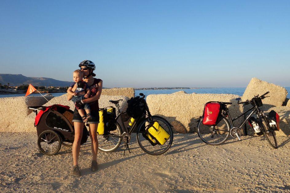 Włochy, Sycylia. Rowerowa podróż z dzieckiem