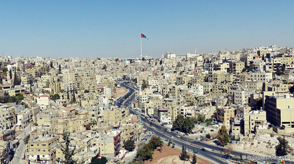 Jordania, panorama Ammany widziana z cytadeli, zdjęcia z Jordanii