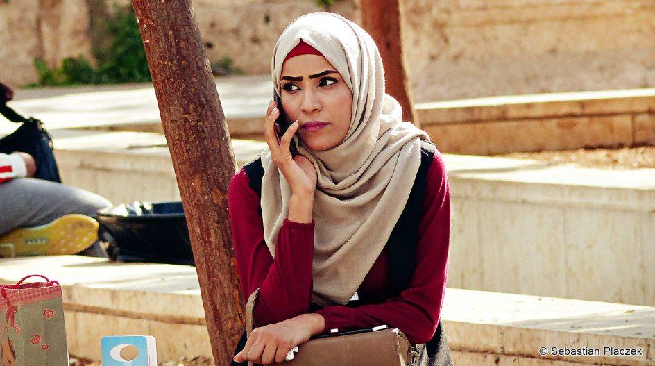 Jordania, kobieta z Ammanu, zdjęcia z podróży