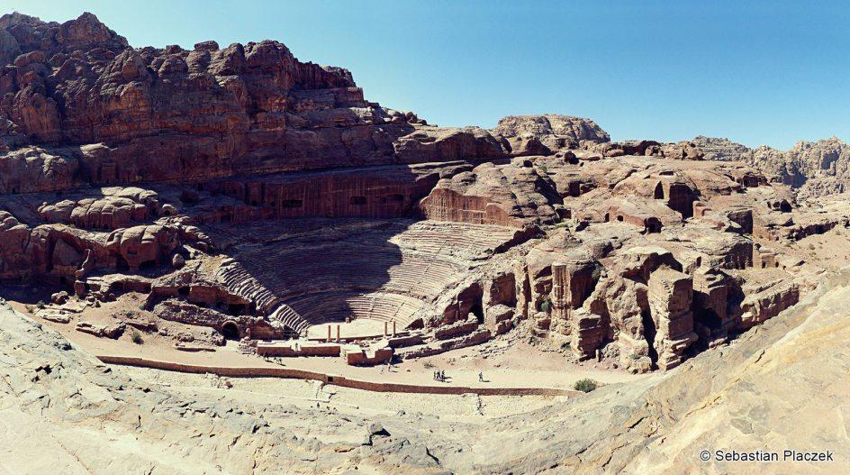 Jordania, starożytna Petra, ruiny teatru
