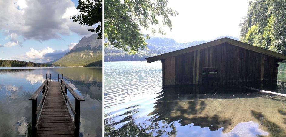 Niemcy, Bawaria, jezioro Elbsee, geocaching
