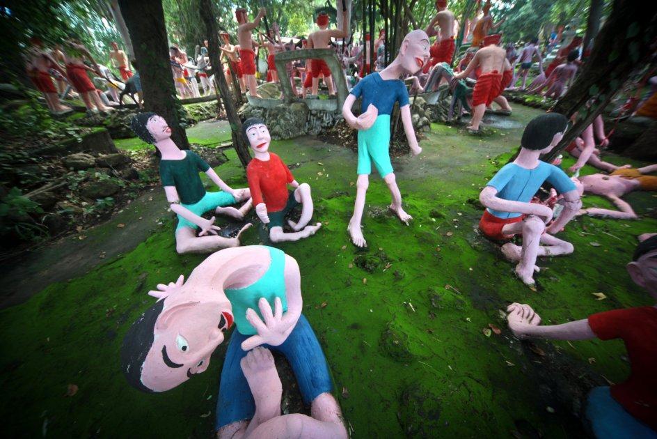 Kary w buddyzmie, narkotyki, Tajlandia, zdjęcia