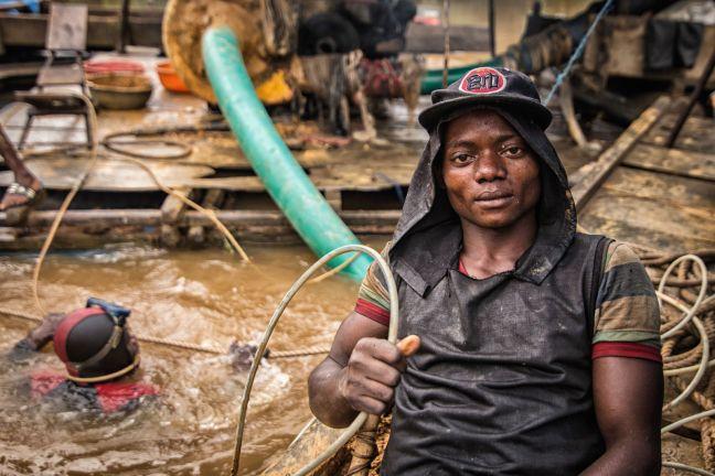 Kongo, poszukiwacz diamentów