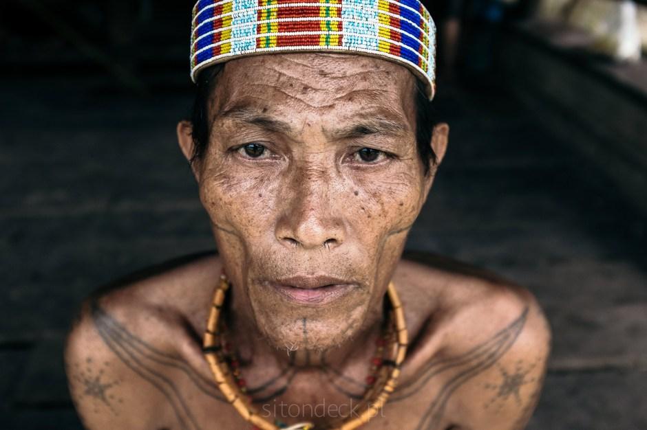 Indonezja, Mentawaje, portret mężczyzny, zdjęcia z podróży