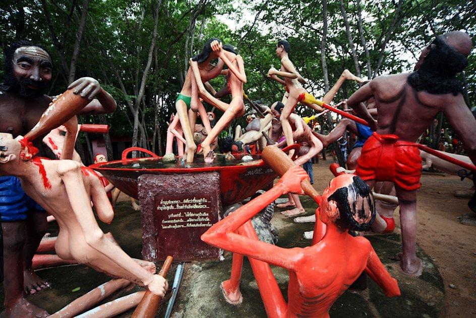 Tajlandia, zdjęcia z Wat Pa Lak Roi, buddyzm, alkohol, narkotyki