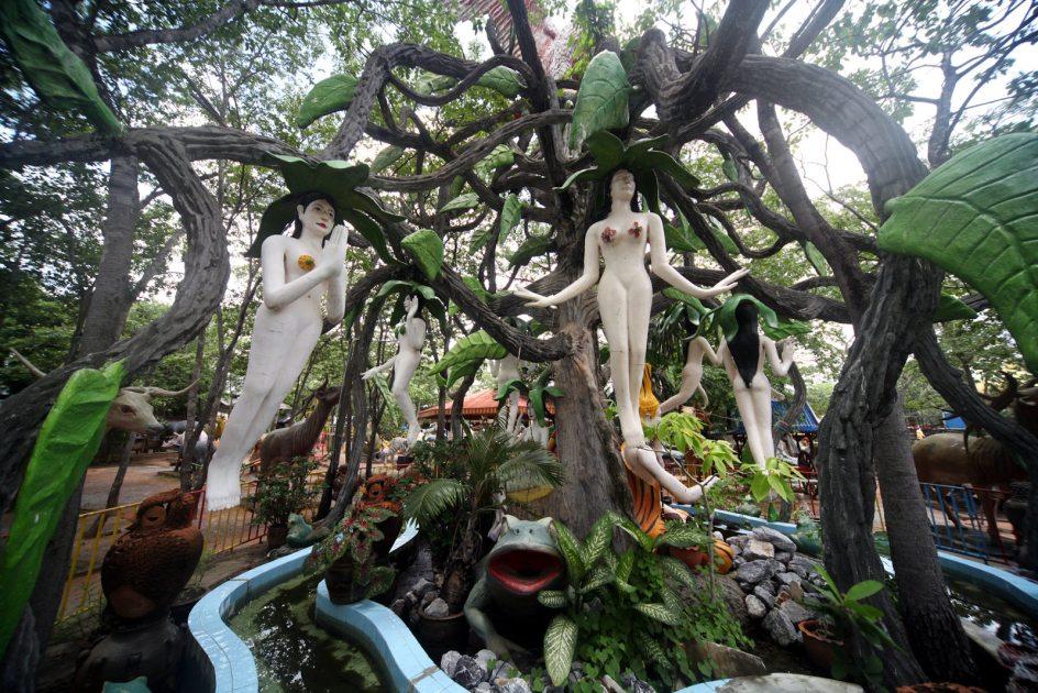 Tajlandia, piekielny park Wat Pa Lak Roi, zdjęcia