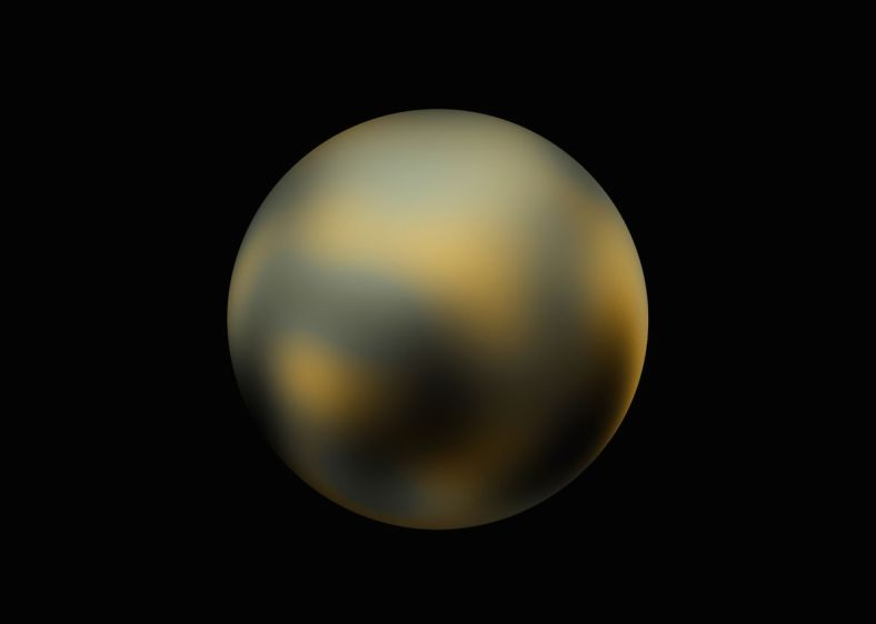 Pluto, as seen by The Hubble