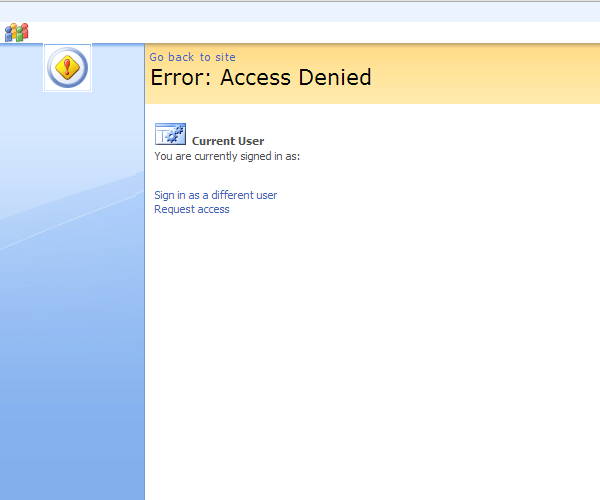 Sharepoint Denied Access