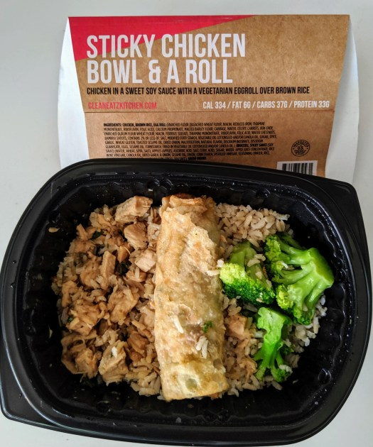 Chicken, rice, broccoli and vegetable roll frozen meal