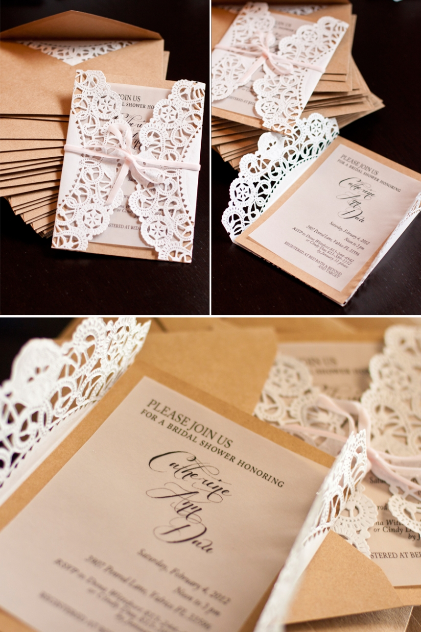 Elegant Country Bridal Shower Invitations  Tutorial  Perpetually Daydreaming