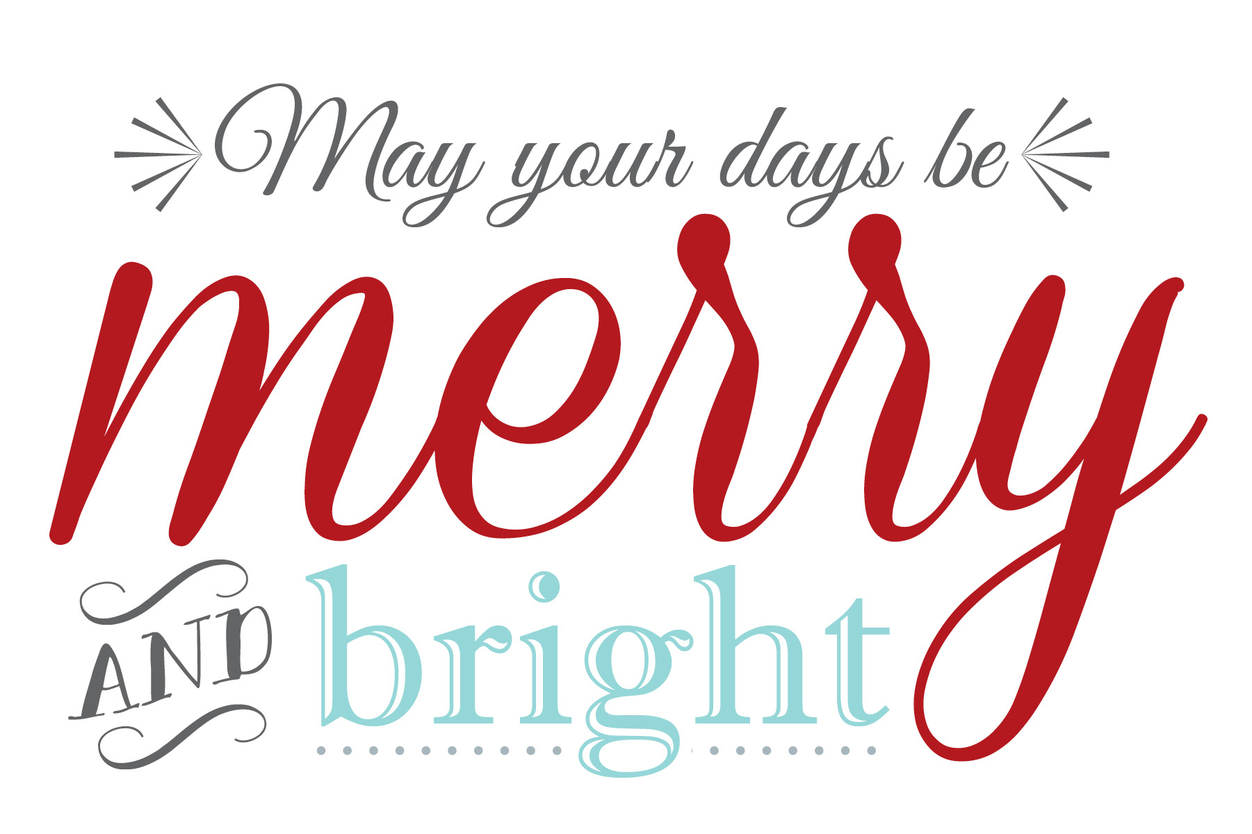 Free Merry Amp Bright Christmas Printable