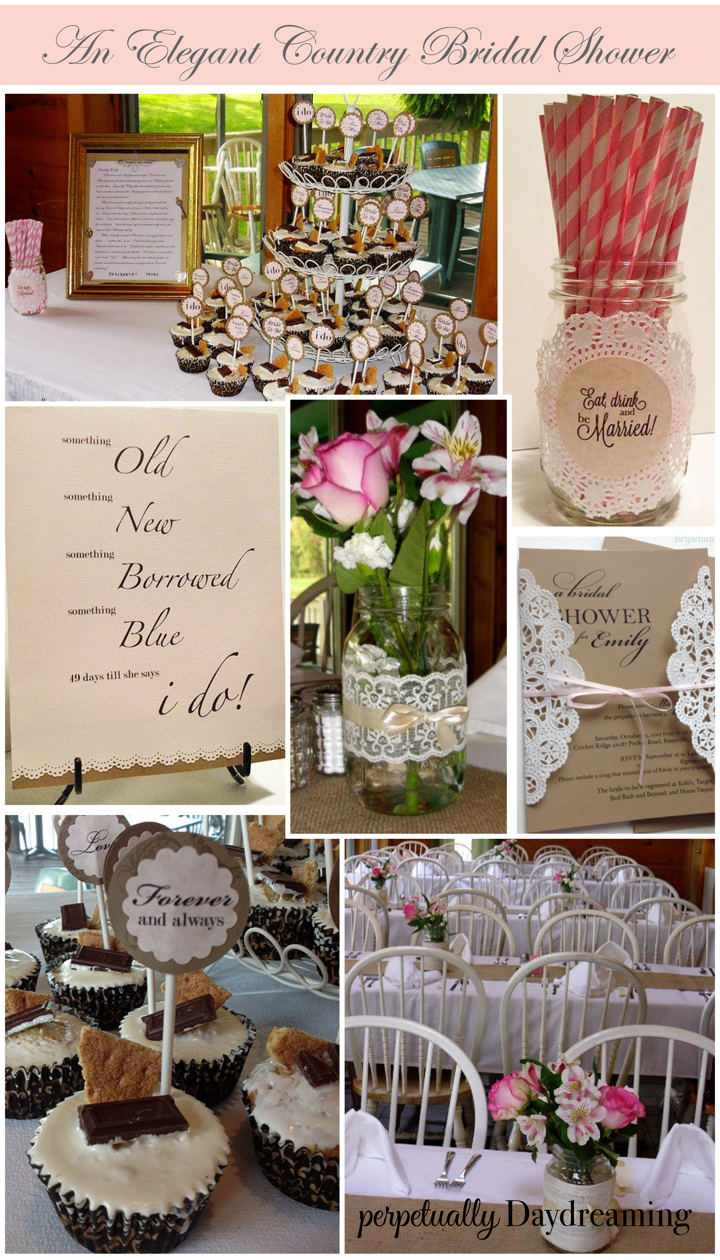 The Elegant Country Bridal Shower  Perpetually Daydreaming